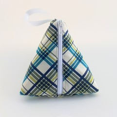 Plaid Pyramid Purse - Free postage