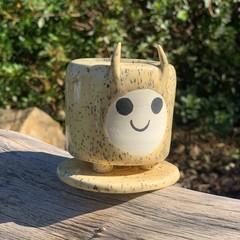 Small Ceramic Speckled Planter Pot