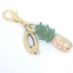 pineapple planner charm, gold pineapple, pineapple jewelry, food charms, summer