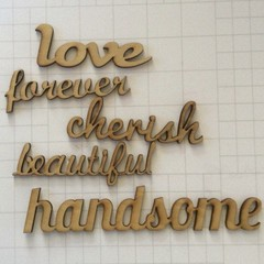 Wooden Words  Wood veneer words scrapbooking embellishments papercraft ideas sup