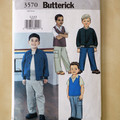Butterick 3570, boys jacket vest and pants pattern. Sizes 2 - 5.