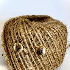 Handmade Australian Bred and Tanned Cowhide Earrings