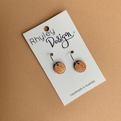 Small Glitter Disc Earrings