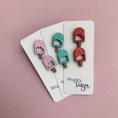 Fun Ice Cream Earring Studs