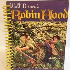 Robin Hood Journal or Sketchbook using recycled Golden Book, Blank  Notebook
