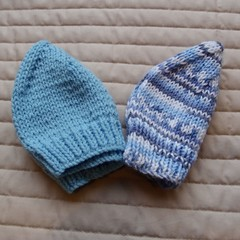 *Special * 2 beanies: (0-6mths): Washable, boy, soft, winter