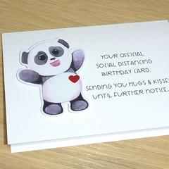 Social distancing Birthday card