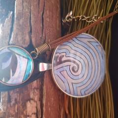 Blue Fire Pendant and bracelet Set