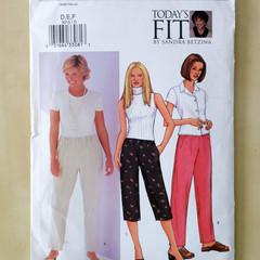 "Butterick 3015. Ladies petite pants pattern, Fits waist 32 1/2"" - 37 1/2"""