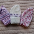 *Special * 3 beanies: (Newborn - 3 mths): Washable, girl