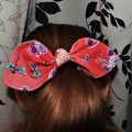 Knot bow hair tie