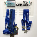 Gymnastics Sports Medal Holder, Personalised Medal Hanger Display