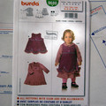 Burda 9680 sewing pattern, - Baby and toddler dress, UNCUT