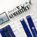 Gymnastics Sports Medal Holder, Personalised Medal Hanger Display