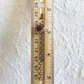 Vintage style long chain beaded tassel dangling earrings , Red Purple Clear