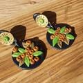 Handmade Earrings - Art Deco Wattle Drops
