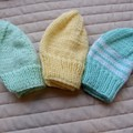 *Special * 3 beanies: (6-12mths): Washable, unisex, soft, winter