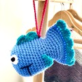 Jellyfish for premature baby, FREE DELIVERY, crochet sea animals, baby toy