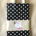 Kraft paper bag - Polka Dots - Black & white - 3 different sizes - 3 pieces