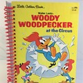 Woody Woodpecker Journal or Sketchbook using recycled Golden Book, Blank Pages