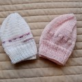 *Special * 2 beanies: (6-12mths): Washable, girl, soft, winter