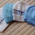 *Special * 4 beanies: (0-6mths): Washable, boy, soft, winter