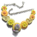 Girls  necklace , Yellow unicorn necklace