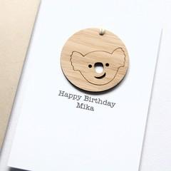Birthday card | Personalised | Koala Decoration Australia Souvenir