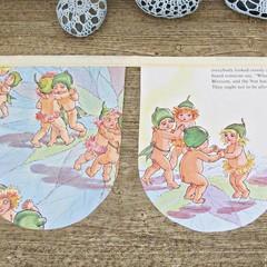 May Gibbs Nursery Bunting Birthday Australiana Children Gumnut Babies Garland
