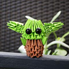 3D Origami Baby Yoda Diy Kit