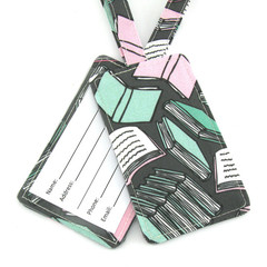 Book Lover Luggage Tag, School Bag Tag, Travel Accessories
