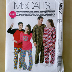 McCall's M6251, top pants and jumpsuit pattern, sizes XS - M, UNCUT