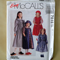 McCall's 7846, girls dress and pinafore pattern, sizes 4 - 6