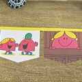 Mr Men Little Miss Birthday Party Bunting Chatterbox Nursery Homewares For Child
