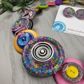 Chunky Multi Coloured Button Necklace - Button Earrings - Jewellery