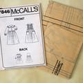 McCall's 7846, girls dress and pinafore pattern, sizes 4 - 6