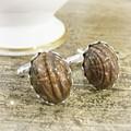 Scarab Beetle Cuff Links Accessories For Him Copper Brown Vintage Wedding Groom