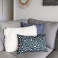 Cushion cover - khaki and pink leopard print