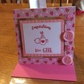 Baby card. Girl baby card
