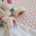 Fitted Cot Sheet - Cotton - Soft Pink Honeycomb