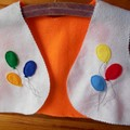 Felt Vest with Party Balloons