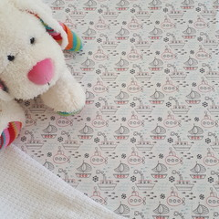 Fitted Cot Sheet - Cotton - Boys Boats and Submarines
