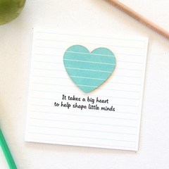 Teacher Thank You Card, Personalised, 8 Quotes, Custom Made, Turquoise Stripes