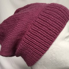Unisex adult hand knit  Slouchy/beanieClassic 3/4