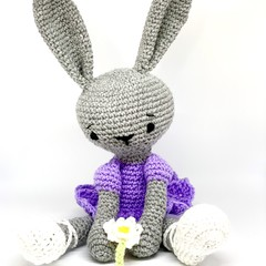 Ballerina bunny, FREE DELIVERY, crochet toy, personalised toy, baby girl toy