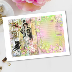 Harrison Fisher Ladies Secret Garden Journal Pages
