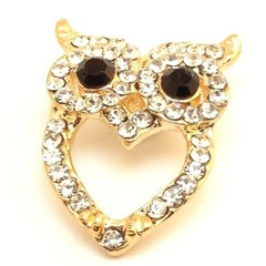 Needle Minder - Crystal Heart Owl - OWL0002C