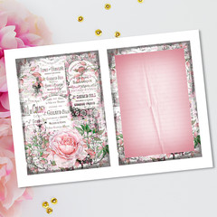 French Ephemera Labels Roses Journal Pages