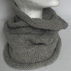 Unisex adult hand-knitted 100% AUSSIE-ALPACA COWL  2/2 pages