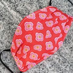 Triple Layer Face Mask - 100% cotton fabric - Red Bandana